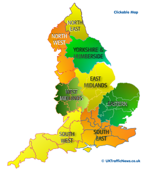 clickable map of england regions